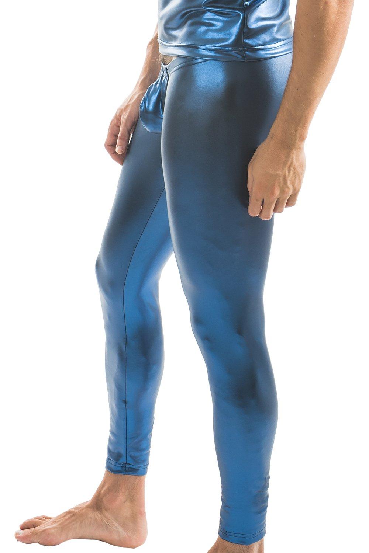 N2N Bodywear Liquid Skin Pant B12 (Blue Metallic, Small)