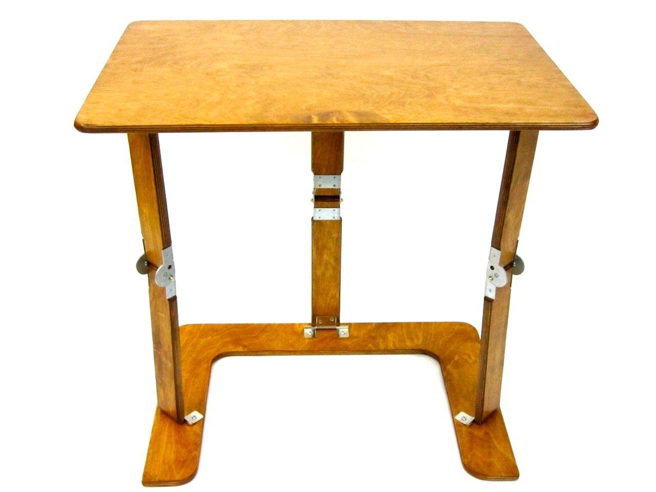 Spiderlegs Folding Couch Desk Tray Table, 25-Inch, Warm Oak