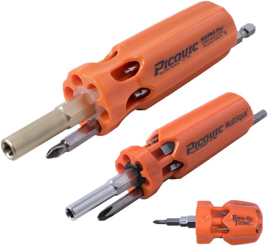 Picquic 44606 3-multi-driver Family Pack, Bright Orange Opaque