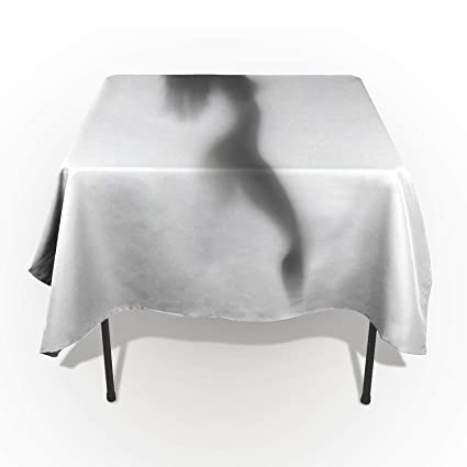 53 x 70 Inch Rectangle Tablecloth - Sexy Women Shadow Rectangular Polyester  Table Cloth Table Covers 6463907430