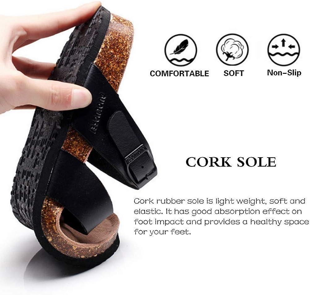 VANDIMI Womens Bunion Sandals Summer Comfy Slippers for Big Toe Bone Correction Light Weight Flat Sandals Flip Flops