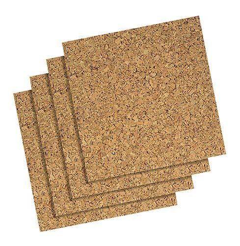 (Boone(R) Cork Wall Tiles, 12in. x 12in. x 1/4in., Natural, Pack Of 4 by Boone International)