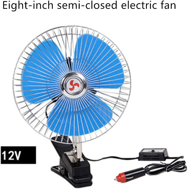 Car Fan,8-Inch Mini USB Desktop Fan 360/°Manual Adjustable Stepless Speed Control,for Home,Office,Car,Travel and More,12V