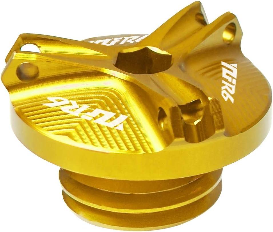 LIWENCUI Filtro de Aceite del Motor de la Motocicleta de llenado de Aceite Taza del Casquillo Cubierta del Enchufe del Motor del Tornillo Accesorios for Yamaha YZF R6 2005-2016 Color : Gold