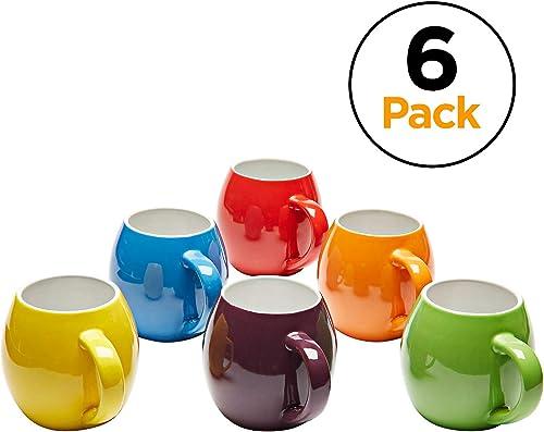 Amethya Premium Ceramic Colorful Meal Stoneware Mugs