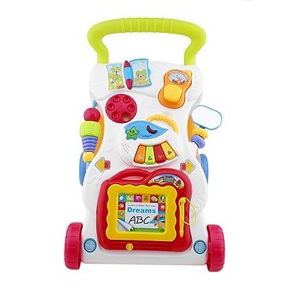 Trotteur multifonctionnel pour bébé chariot chariot Walker pour pour enfant Early Learning réglable avec vis