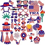 PBPBOX 4th of July Photo Booth Props for Independence Day Party Decorations – 40 Pieces