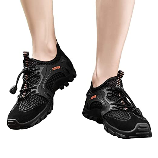 925832a762ea Amazon.com: Gyoume Hiking Boots Men Ankle Walking Outdoor Boots ...