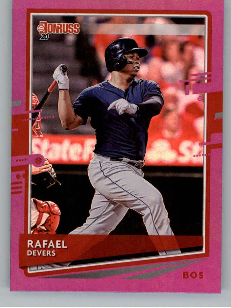 2020 Donruss Holo Purple #164 Rafael Devers Boston Red Sox Baseball MLB