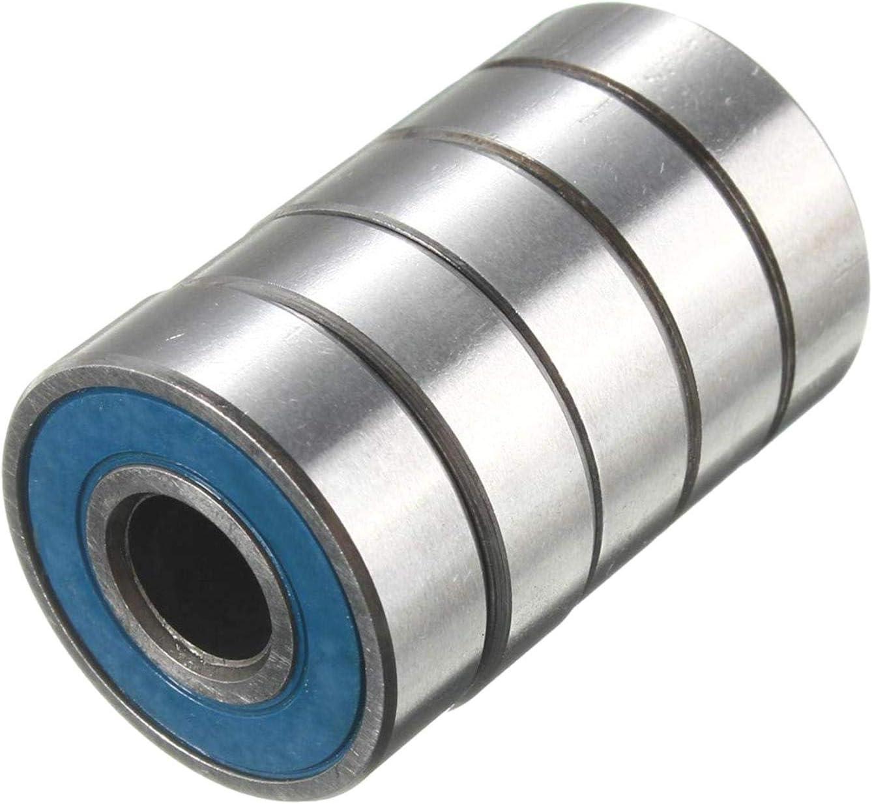 608rs ABEC DULALA Negro Rodamientos 20pcs Ball Bearing Steel Carbon Skateboard Wheel Bearings