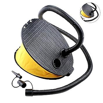 Eizur Bomba de pie 3L Bomba de aire inflador de pie para flotador/colchón neumático
