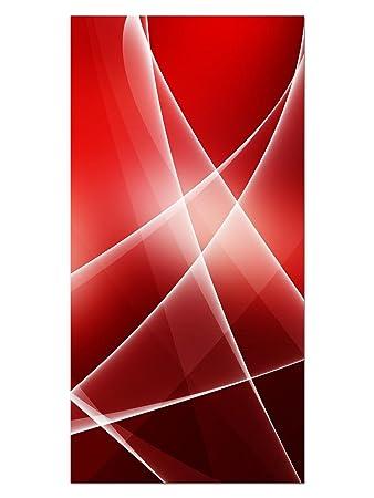 EG4100502222 WASSER DESIGN ROT ABSTRAKT HD GlasBild Wandbilder XL 50 x 100 cm