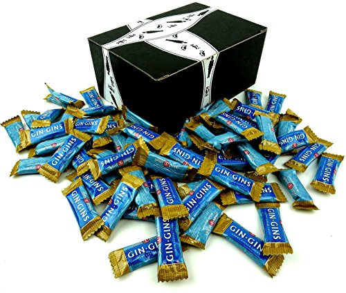 The Ginger People Gin Gins Peanut Chewy Ginger Candy, 1 lb Bag in a BlackTie Box