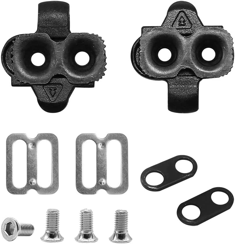 U3store 2 Set of Bike Cleats 14/° Rotate Adjust Replacement for Shimano SPD Spinning Indoor//Mountain Bike Bicycle Cleat Kit