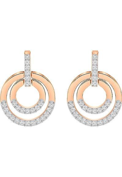 2e162040522c Swarovski Women Gold Plated Dangle   Drop Earrings - 5349204  Amazon ...