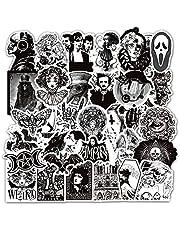 Zwart Wit Punk Goth Mode Horror Graffiti Stickers Voor Diy Motorfiets Auto Helm Gitaar Laptop Skateboard Sticker 50 Stks