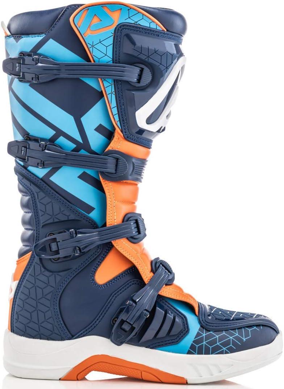 Acerbis X Team Motocross Stiefel Blau Orange 45 Auto