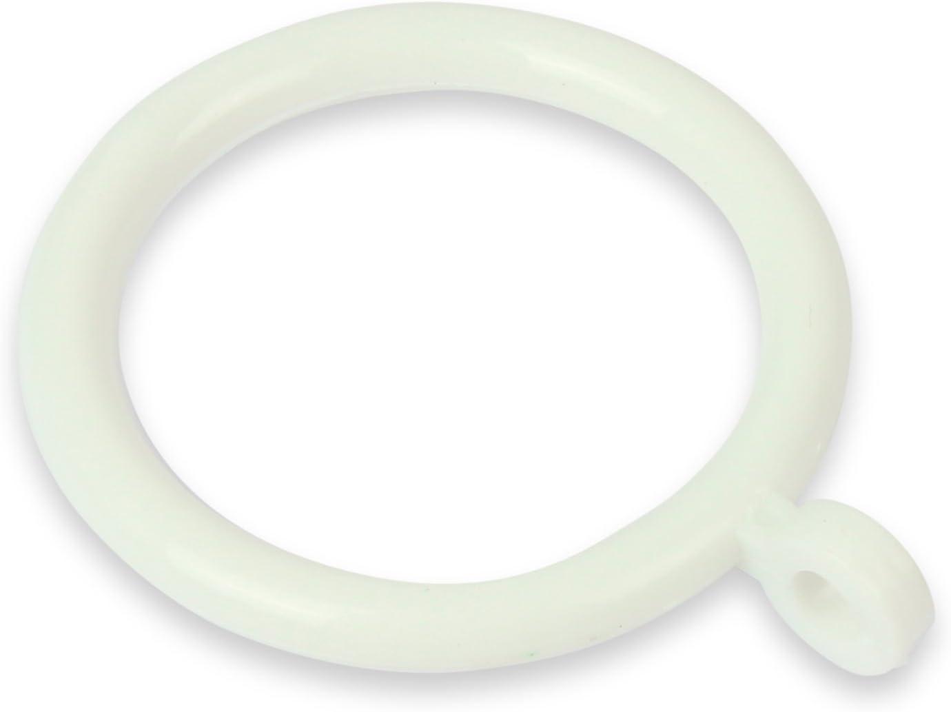Lot de 30/anneaux /à rideau en plastique pour tringles de 19/mm