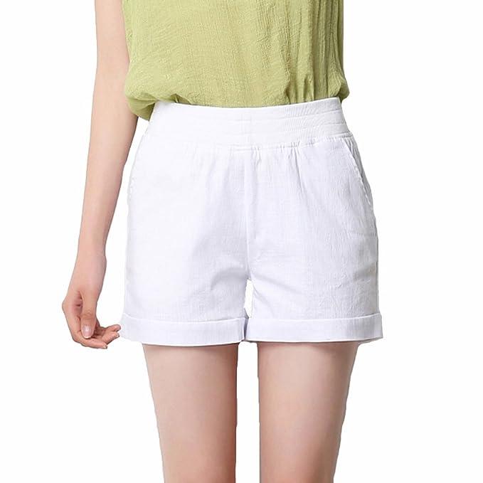 effcb5e2f TieNew Moda Mujer Verano Señora Casual Pantalones Cortos Beach High ...