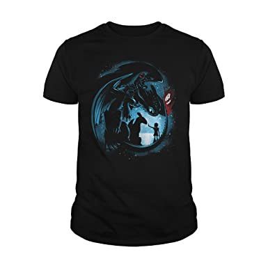 4d67a90d4 Men's How to Train Your Dragon Toothless Night Fury Shirt T-Shirt (M,