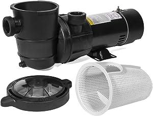 "XtremepowerUS 1.5HP Swimming Pool Pump Spa 1.5""NPT w/ Large Strainer Basket Filter Self Prime"