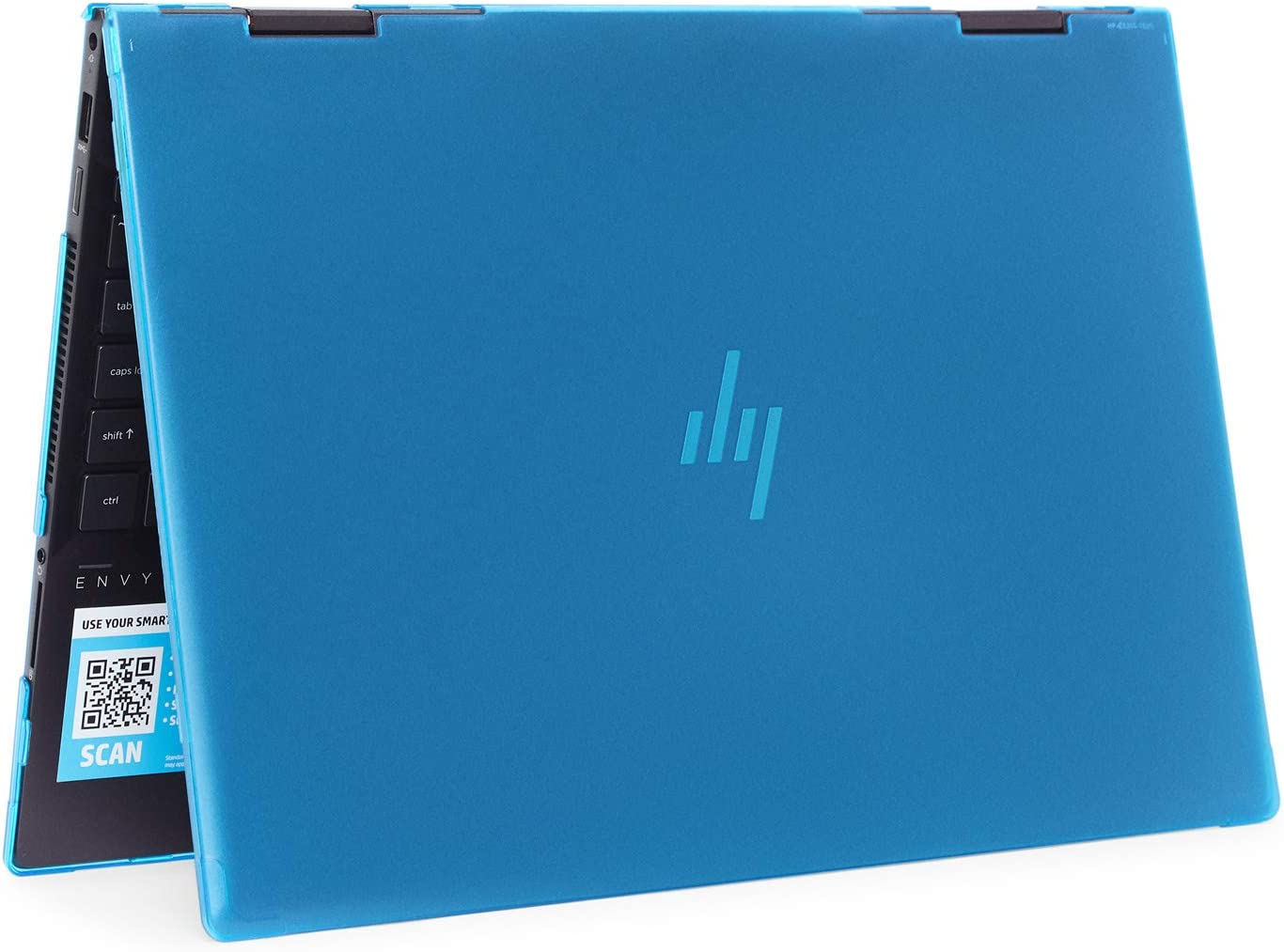 "mCover Hard Shell Case for 2019 15.6"" HP Envy X360 15-DSxxxx / 15-DRxxxx Series (NOT Compatible with X360 15-AQxxx / 15-BPxxx and Other Series) (Aqua)"