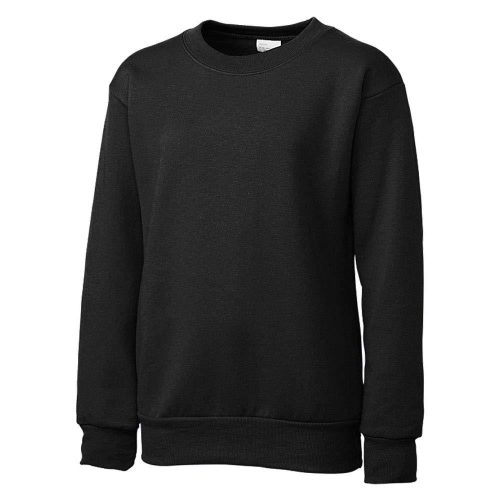 Jet Black Medium Clique Basic Big Boys Comfortable Fleece Sweatshirt