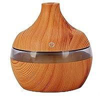 Andoer 300ml difusor de aroma USB umidificador de ar tipo água madeira mini óleo essencial mudo máquina de aromaterapia…