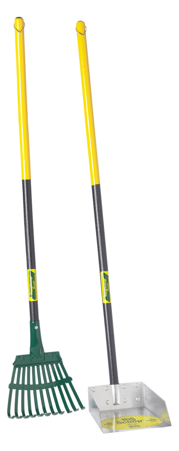 Flexrake 58W Small Scoop and Steel Rake Set with 36-Inch Cherry Stained Wood Handle