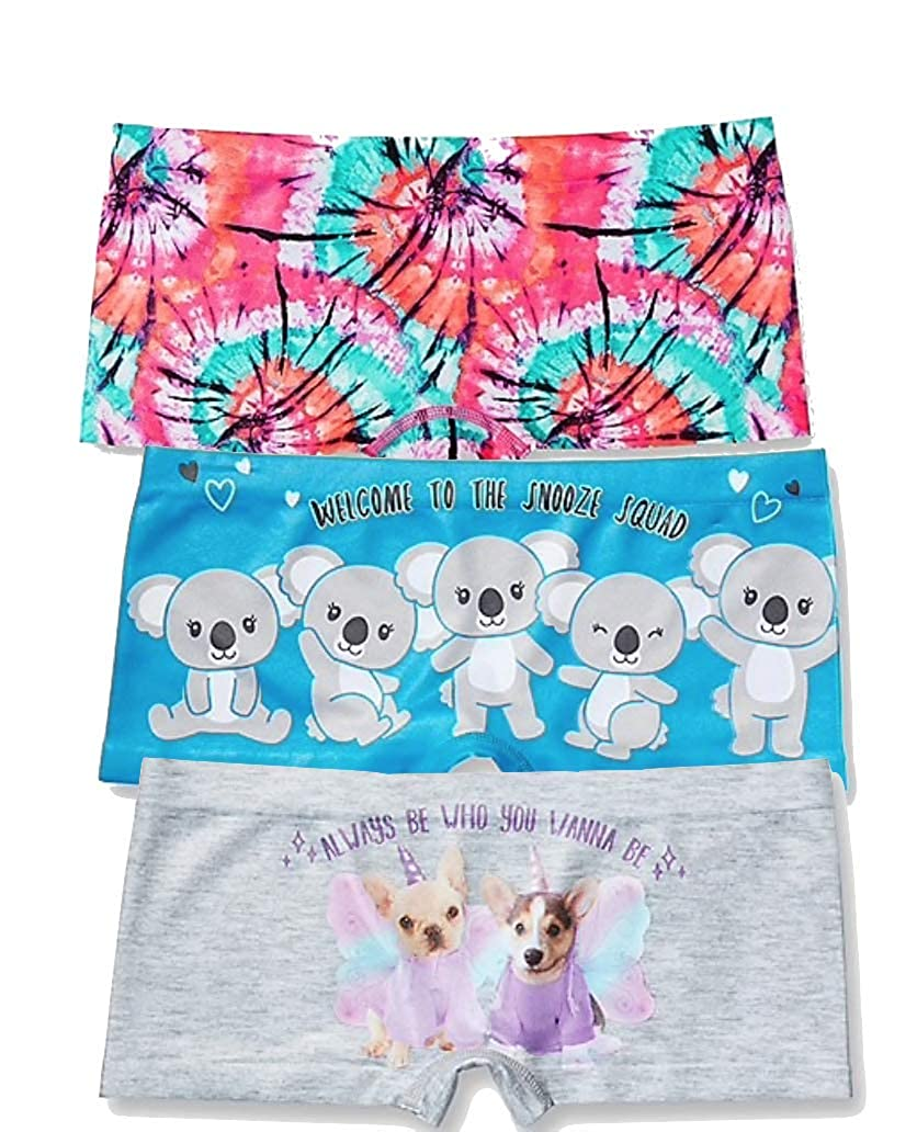 Size 12//14 Justice Girls Seamless Shortie Panty Bundle of 3-Count