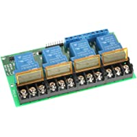 Irfor 4-Channel DC 12V 30A Relay Module Control Boa Optocoupler Isolation High/Low Trigger