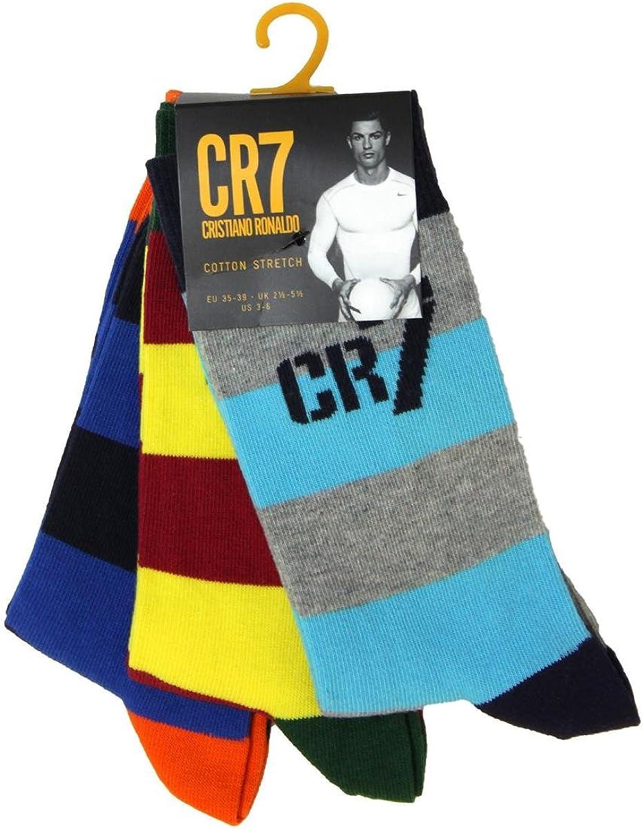 Socken Kids Socks 3-Pack Ragazzo Cristiano Ronaldo CR7/Calze da Ragazzo Confezione da 3