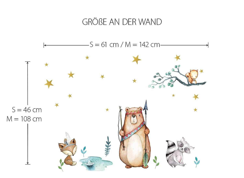 Little Deco Wandbild Waldtiere Pfeil Bogen I S I