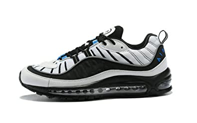 MAXSLAW Air Max 98 OG Orlando White Black Blue Mens Running Shoes ... dbfe091976