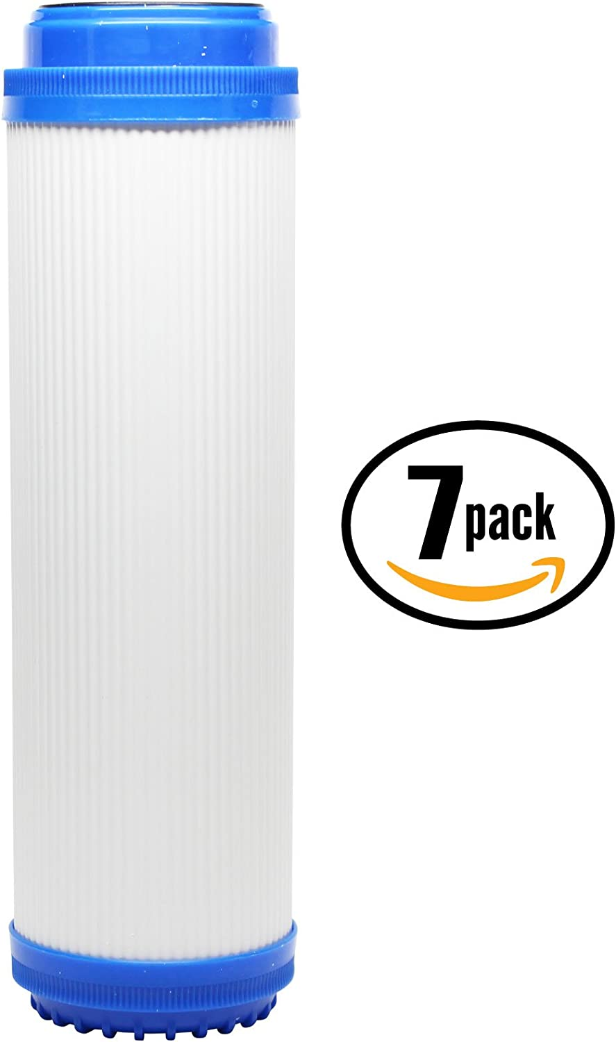 7-Pack Replacement for H2O Distributors H2O-RUS-300 Granular Activated Carbon Filter Universal 10-inch Cartridge Compatible with H2O Distributors H2O RUS-300 Triple Under Sink Filter