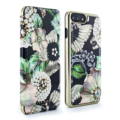 f249e58cc Ted Baker SS17 CLARENA Mirror Folio Case for iPhone 7 6 6s Plus - Gem  Gardens (Black) - Buy Online in Oman.