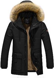 ASDSI-1 Vêtements d'hiver pour Hommes en Coton Vêtements pour Hommes Manteau en Coton pour Hommes D'Âge Moyen en Coton Vêtements Longs pour Hommes