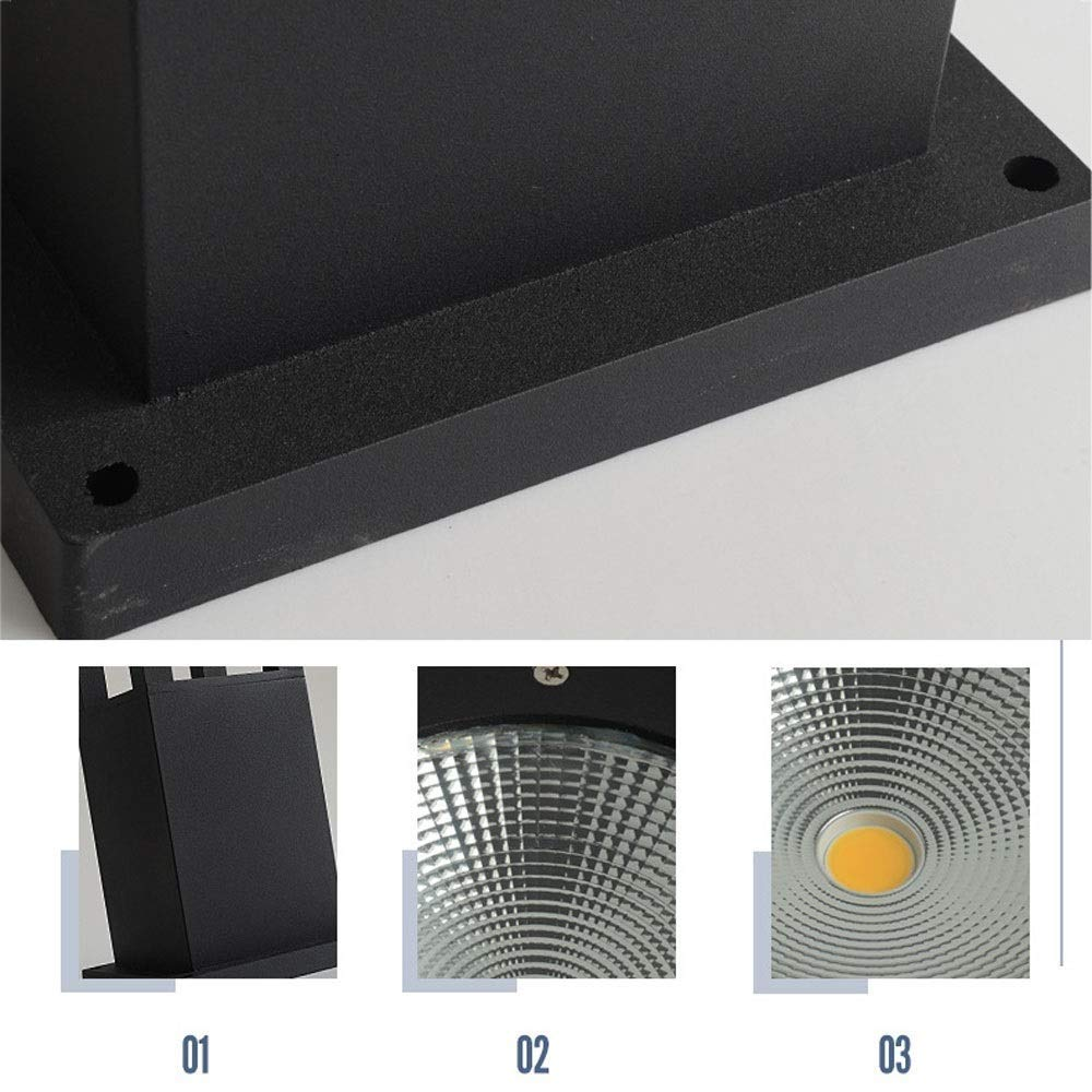 Amazon.com: Xungzl - Moderna linterna rectangular LED de ...