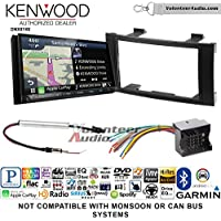 Kenwood DNX874S Double Din Radio Install Kit with GPS Navigation Apple CarPlay Android Auto Fits 2004-2010 Volkswagen Touareg