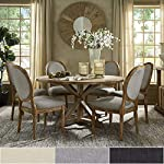 Inspire Q Deana Round Dining Set with Round Back Chairs by Artisan Grey 6 7-Piece Sets