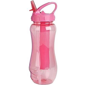 Botella para bebidas para niños/adultos, rellenable, con espacio para hielo