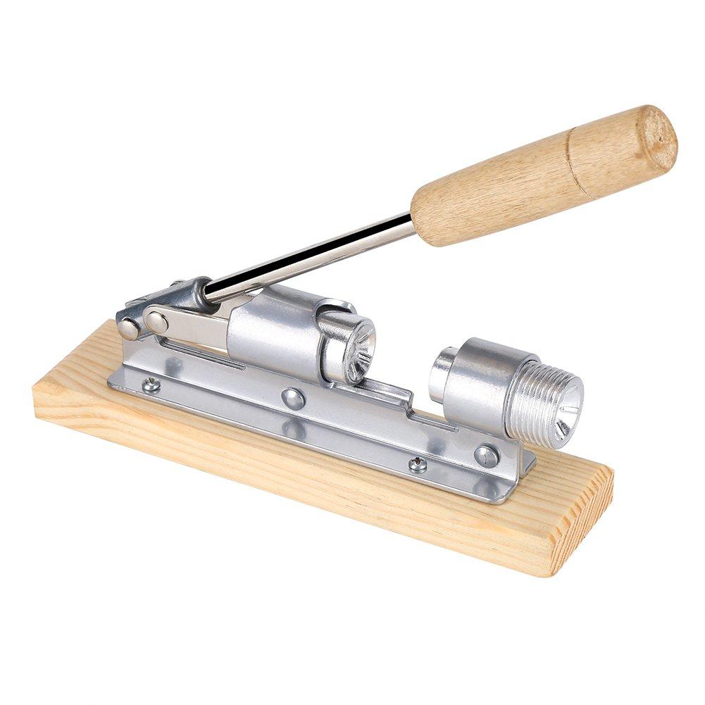 Nut Cracker Tool, Heavy Duty Pecan Nut Cracker Tool Walnut Cracker Nut Opener Kitchen Tools with Desktop Wood Base & Handle Zerone