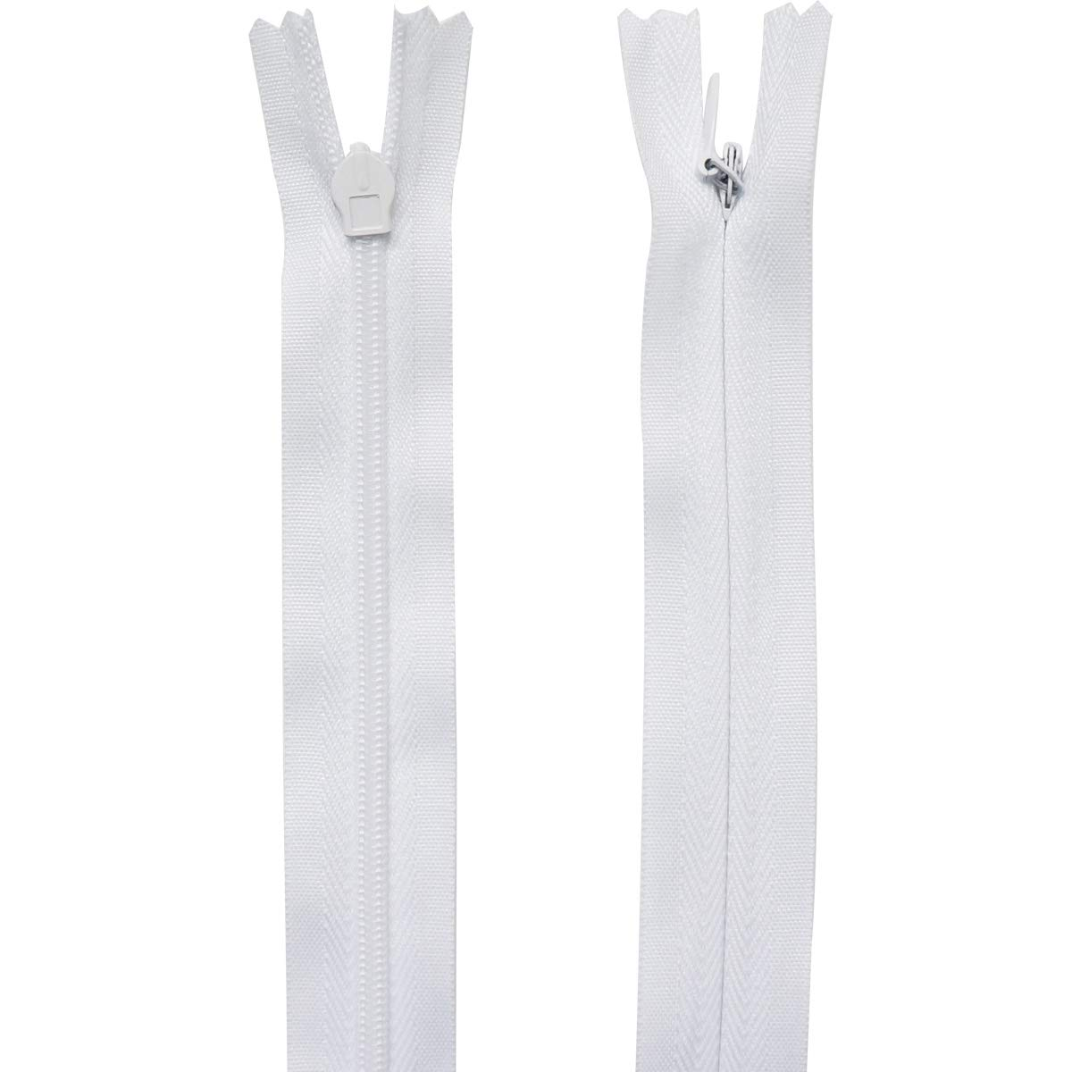 Misscrafts 25pcs Nylon Invisible Zippers 14 Inch White for DIY Sewing Crafts Bag Dresses Skirts Pillows