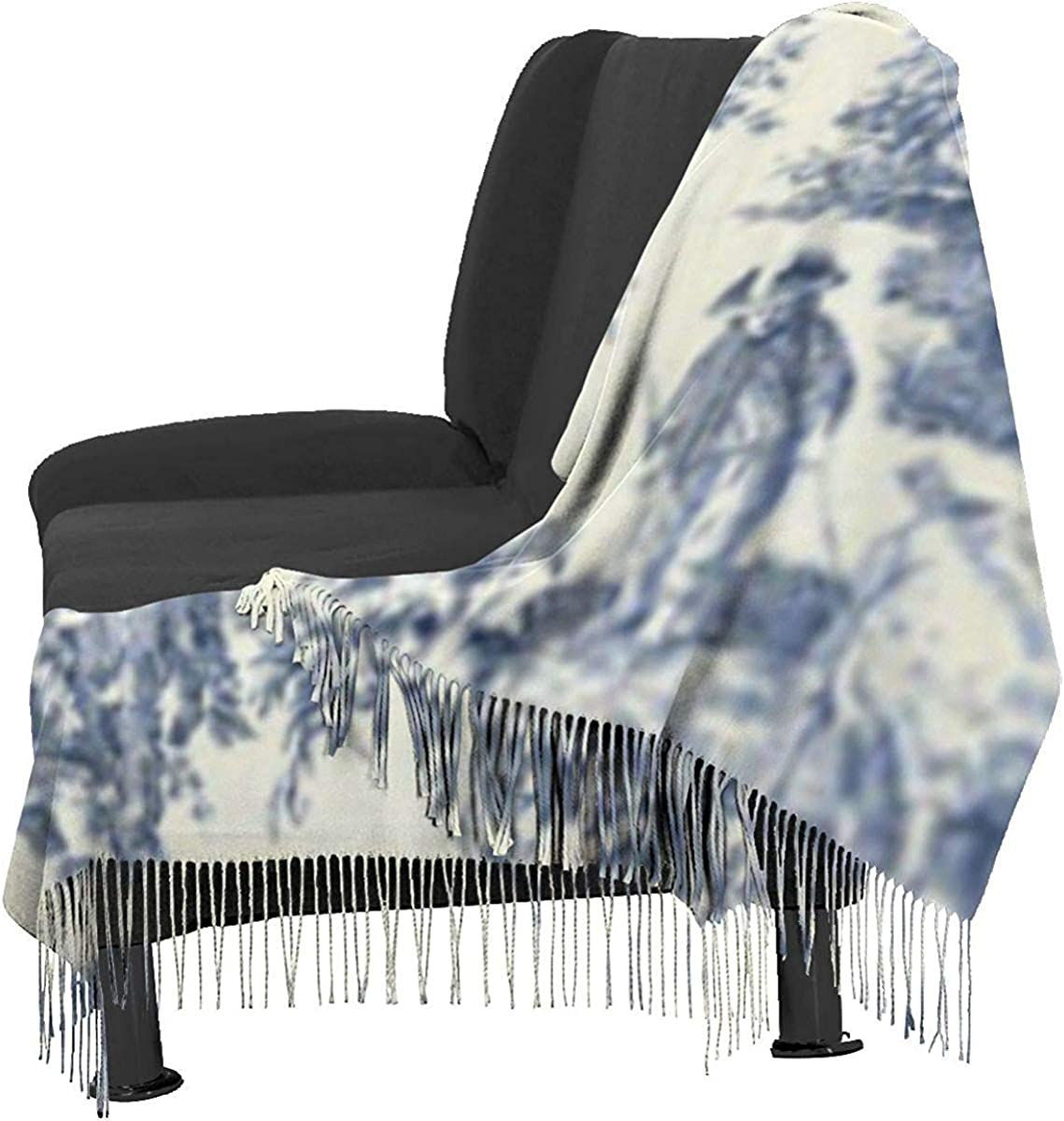 Scarf Toile De Jouy Wallpaper Cozy Soft Fashion Winter Warm Large Scarf Long Shawl JJsister Foulards,Echarpes,Pashmina Femme Ch/âle Wrap