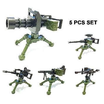 mini blocks GATLING Machine Gun Army Soldiers Weapon Guns Minifigures