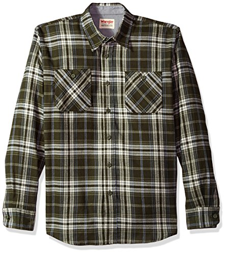 Wrangler Authentics Men's Long Sleeve Flannel Shirt, rosin, X-Large (Best Flannel Shirts For Guys)