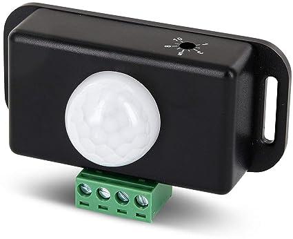 12 – 24 V Mini empotrable IR Detector de movimiento – LED Adecuado – Ideal para