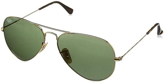 47961aa5d Ray-Ban Unisex Aviator Sunglasses Gold Frame Green Lens - RB3025-181 ...