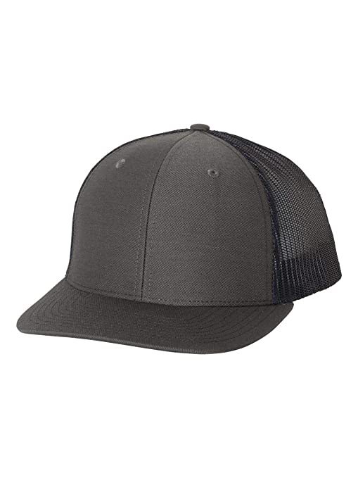 f0b58d9ac46 Image Unavailable. Image not available for. Color  Richardson Charcoal Navy 112  Mesh Back Trucker Cap Snapback Hat
