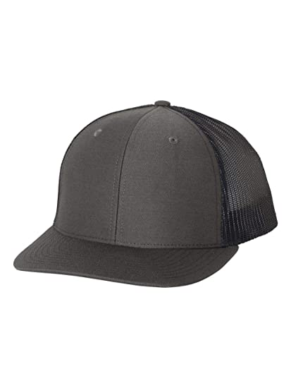b6b688f9a4c65 Image Unavailable. Image not available for. Color  Richardson Charcoal Navy 112  Mesh Back Trucker Cap Snapback Hat